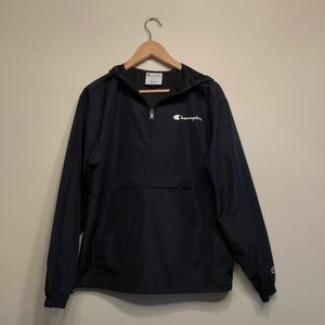 Champion Navy Blue Windbreaker Jacket